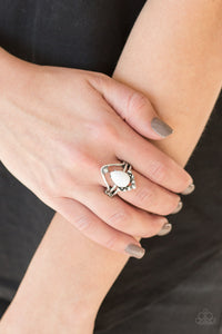Paparazzi - The Bold And The Bead-iful - White Ring - Classy Jewels by Linda