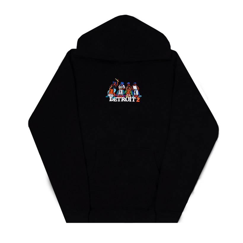 Detroit 2 Embroidered Drummer Hoodie-Big Sean