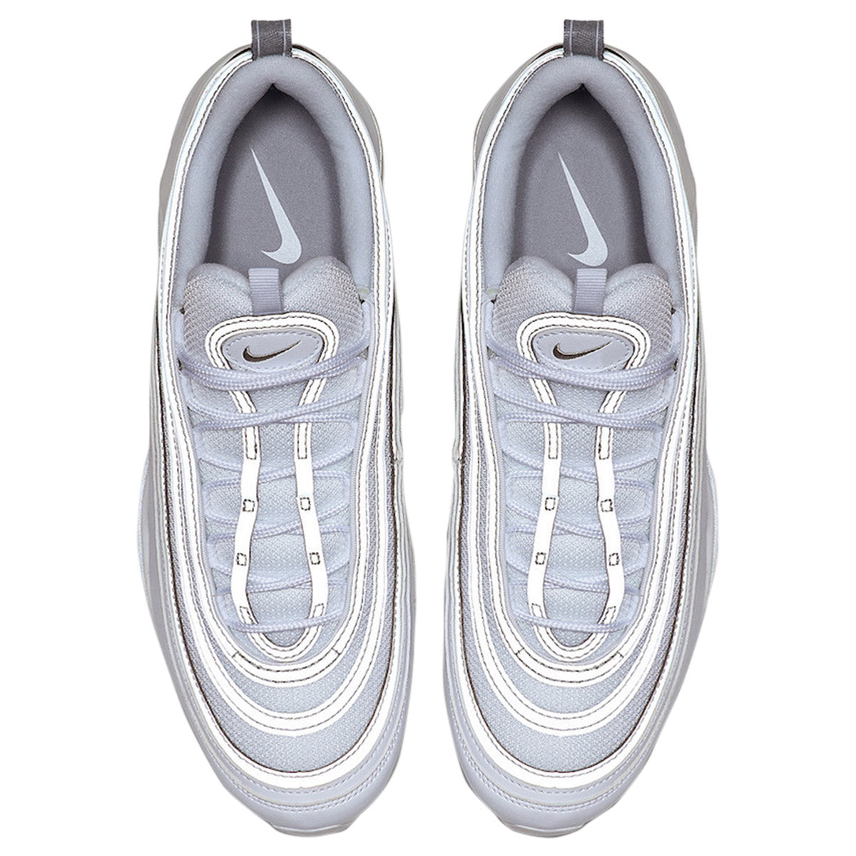 Nike Air Max 97 Mens Sneakers 921826 105, WhiteReflective SilverWolf Grey
