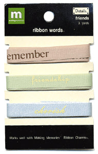 Ribbon Words - Friends