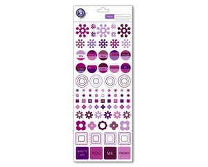 Color Theory Collection - Tattoos Rub-ons - Violet Geometry