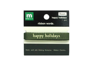 Ribbon Words - Happy Holidays