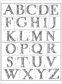 Anna Griffin Clear Stamp Sets - Elegant Engraving Alphabet