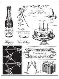 Anna Griffin Clear Stamp Sets - Celebrations