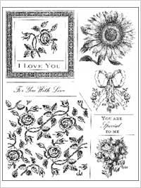 Anna Griffin Clear Stamp Sets - Lovely Floral