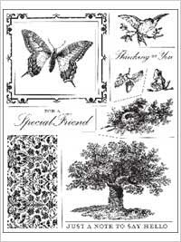 Anna Griffin Clear Stamp Sets - In The Garden