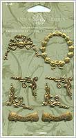 Anna Griffin Brass Embellishments - Assorted Medallions
