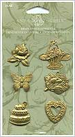 Anna Griffin Brass Embellishments - Assorted Charms