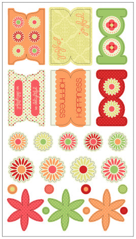 Winnies Walls fab fabrics Twill Embellishment Stickers