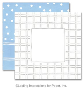 Simply Square Embossing Note Card Sets - Boardwalk