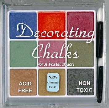 Decorating Chalk 9 Color Glimmer Set-Kit #2