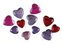Sparkle Gems Hearts
