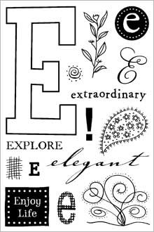 ClearDesigns for Stamping - E