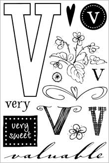 ClearDesigns for Stamping - V