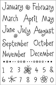 Clear Design Whimsical Months