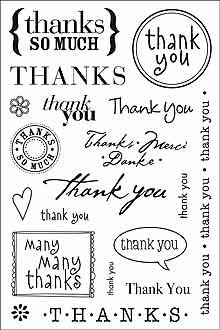 Clear Design Thank You Messages