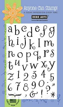 Clear Design Curly Alphabet