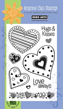 Clear Design Hugs & Kisses