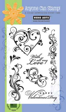 Clear Design Valentine Flourishes