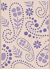 Flower Paisley Background