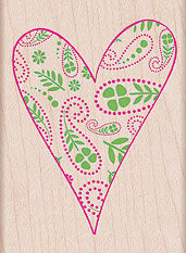 Paisley Filled Heart