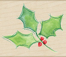 Watercolor Holly