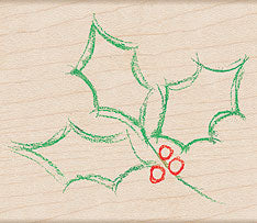 Watercolor Holly Outline