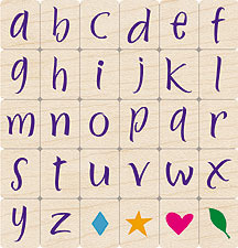 Brushstroke Lowercase Letters