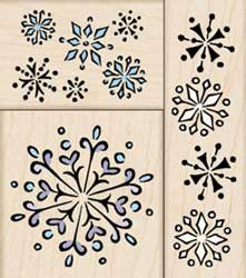 Fluttering Snowflakes Fancy Notes
