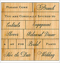 Anna Griffin - Wedding - Please Come...