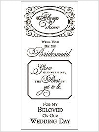 Rub-On Transfers - Wedding - Always and Forever (Gold)