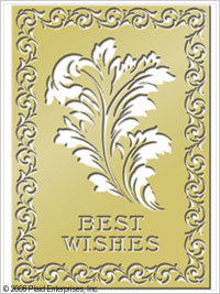 Anna Griffin Brass Stencils - Best Wishes