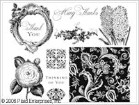 Anna Griffin Clear Stamp Sets - Mini Gift Box Sets - Thank You