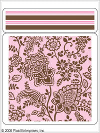 Anna Griffin Stamp Stacks - Batik Floral with Border