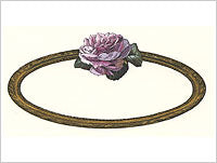 Anna Griffin Rose Collection - Oval Cartouche