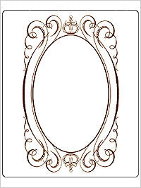 Anna Griffin - Wedding - Fancy Oval Cartouche