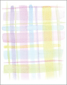 Watercolor Plaid Cards