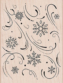 Snowflake Flourish Background