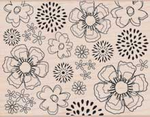 DesignBlock Outline Flowers