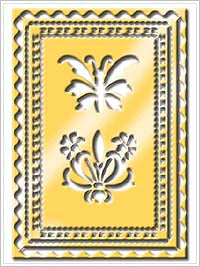 Anna Griffin Brass Stencil - Butterfly & Borders