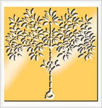 Anna Griffin Brass Stencil - Tree