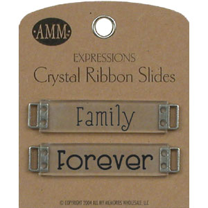 Crystal Ribbon Slides - Family / Forever
