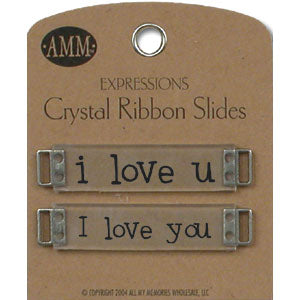 Crystal Ribbon Slides - I Love You