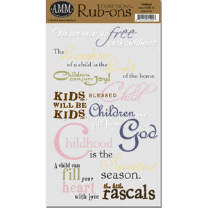 Expressions Rub Ons - Childhood