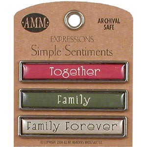 Simple Sentiments - Family/Family Forever/Together