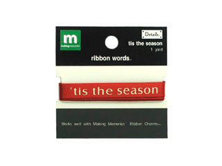 Ribbon Words - Tis The Season
