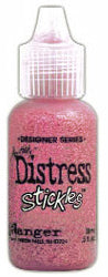 Distress Stickles Glitter Glue - Worn Lipstick