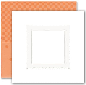 Simply Square Embossing Note Card Sets - Pumpkin