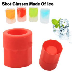 Ice Cube Shot Glass Tray