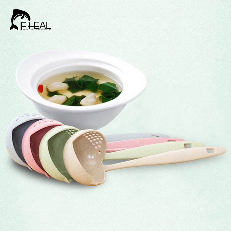 2 in 1 Long Handle Soup with Filter